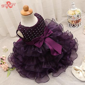 Trendy Baby Girl Baptism Clothes Tulle Lush Dress For Girl Wedding Kids Party Dresses For Toddler Girl 1 Year Birthday Outfits