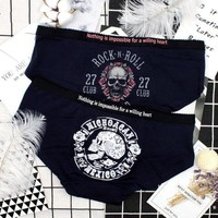Skull 3D Panties Women Cotton Seamless Briefs