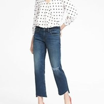 Stretch-Crepe Wrap-Front Top | Banana Republic