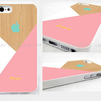 case,cover fits iPhone models>Pastel>pink>pic of wood,geometric,abstract,retro