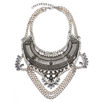 New Design Fashion Vintage Boho Crystal Collar Statement Necklaces