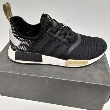 "Women Men ""Adidas"" NMD Boost Fashion Trending Black and White Leisure Running Sports Shoes"