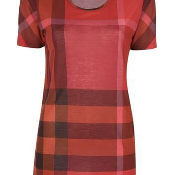 Burberry Brit Check Print T-Shirt
