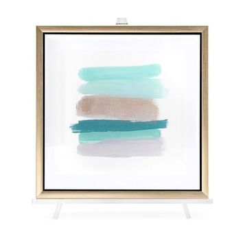Lined Framed Wall Art with Easel