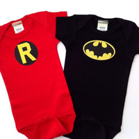 Batman and Robin Onesuit and Tee set
