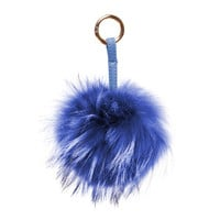 Nila Anthony Royal Blue Furry Keychain