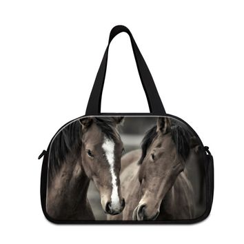 Designer small sporty duffel bag animal printed travel bags for sale horse handbag large tote traveling bag for boys duffle bags