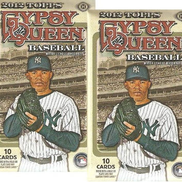 2 PACK LOT : 2012 Topps Gypsy Queen Baseball Cards - Factory Sealed (2 Packs - 10 Cards/Pack)