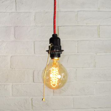 Edison Bulb Pendant Light - E27 Tubular Spiral light bulb - DIY lamp set - ceiling lamp - edison bulb-110V & 220V - vintage style