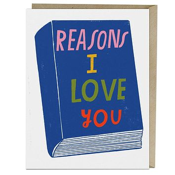 Reasons I Love You Card