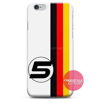 Sebastian Vettel F1 Ferrari Germany iPhone Case 3, 4, 5, 6 Cover