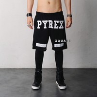 Mens Womens Pyrex replica Mesh Gym Shorts at Fabrixquare