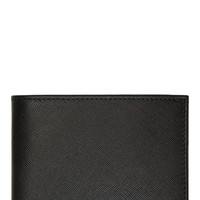 Jimmy Choo Black Textured Leather Bifold Wallet