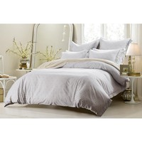 5PC WHITE GREY DESIGN DUVET COVER SET STYLE # 1029 - CHERRY HILL COLLECTION