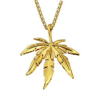 Chic Leaf Pendant Unisex Necklace. Free Shipping + 50% OFF