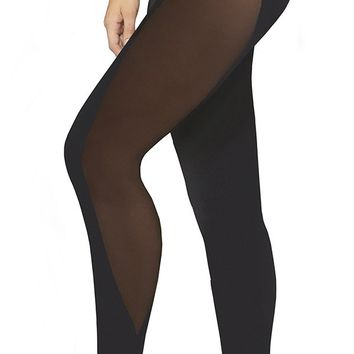 Sexy High Maintenance Sport Jersey Mesh Panel Leggings