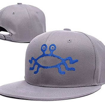 RHXING Flying Spaghetti Monster FSM Logo Adjustable Snapback Embroidery Hats Caps - Grey