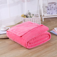 Soft Home Flannel Blanket Solid Sofa Plaid On The Bed Travel Car Sleeping Covers Bedding Sheet