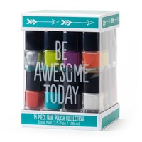 Simple Pleasures 14-pc. ''Be Awesome Today'' Nail Polish Cube Gift Set (Blue)