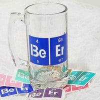 3x4.5 Inch Large Beer Table of Elements Mug Graphic Permanent Vinyl Decal/Bumper Sticker