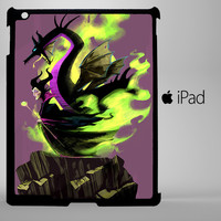maleficent cartoon and dragon iPad 2, iPad 3, iPad 4, iPad Mini and iPad Air Cases