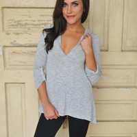 Hooded Tunic- Grey