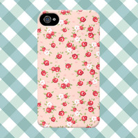 Pink Rose Floral iPhone Case