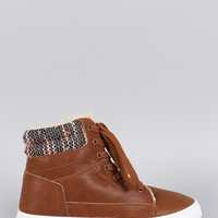 Qupid Tweed High Top Sneaker