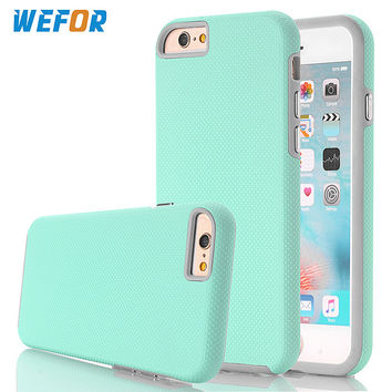 WeFor Shockproof Phone Cases for Apple iPhone 7/7 Plus/7 Pro Hybird Hard Rugged Rubber Shell Cover w/Screen Film+Stylus Pen