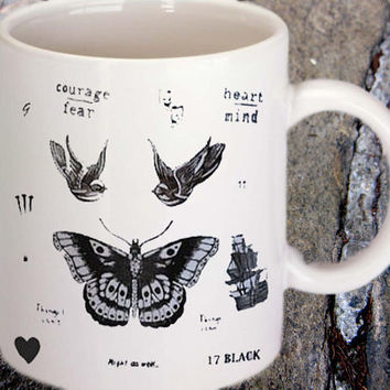 harry style one direction tattoo collage mug