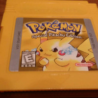 Pokemon yellow Pikachu special edition Nintendo gameboy system console video game