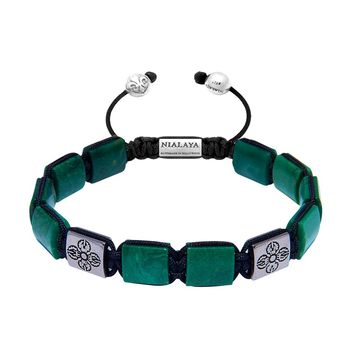 The Dorje Flatbead Collection - Green African Jade and Silver