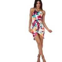 Multi Silky Floral Day Dress