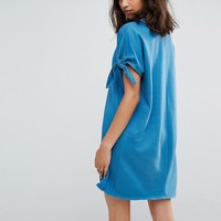 Weekday Jersey Dress with Tie Sleeves at asos.com