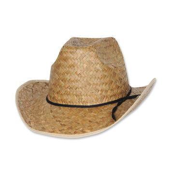 Beistle Party Decoration Hi-Crown Western Hat w/Shoelace Band- Pack of 60
