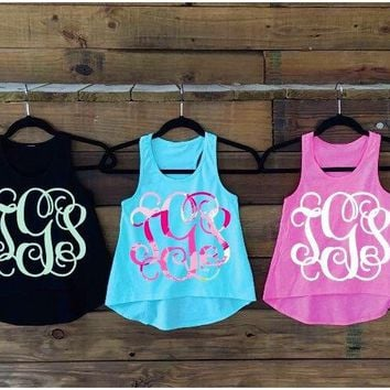 Monogram Toddler Racer Tank / Monogram Youth Racer Tank