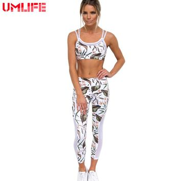 Yoga Suits Women Tracksuits 2 Pieces Yoga Set Yoga Bra+Yoga Leggings Sports Women Fitness Suit Mesh Patchwork  Workout Gym Cloth