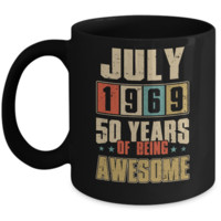 July 1969 50 Years Of Being Awesome Birthday Gift Mug