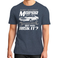 A DAY WITHOUT MOPAR District T-Shirt (on man)