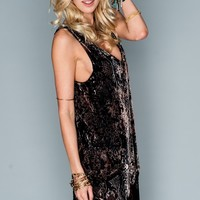 Saucy Fringe Dress ~ Python Velvet Burnout