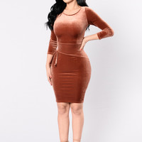 Peaceful Journey Dress - Bronze
