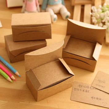 100 pcs/lot Creative Fashion Kraft Paper Card Black Card Message Memo Business Word Card Gift Stationery School Office Supplies