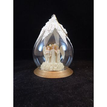 3 Singing Angels In Ball Ornament