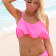 Ruffled Around The Edges Fuchsia Bikini