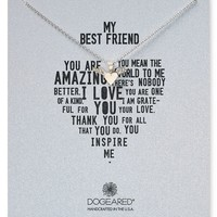 Dogeared It's Personal My Best Friend Winged Heart Necklace, 18"