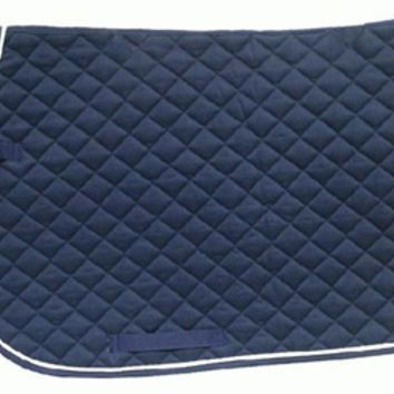 Darck Blue English saddle pad
