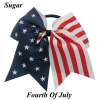 "7"" Patriotic Fourth Of July Bow"