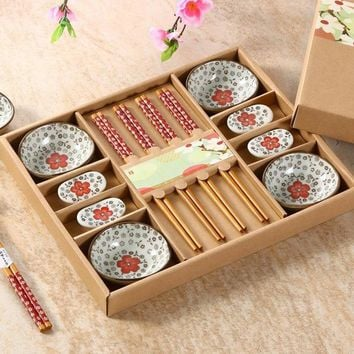 Chinese style , ceramic cutlery sets, Japanese style sushi set, dishes, with gift boxes, high-end tableware!