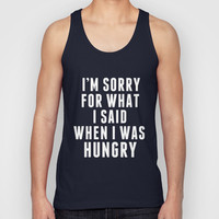HUNGRY Unisex Tank Top by natalie sales