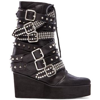 Jeffrey Campbell Lucius Embellished Boot in Black